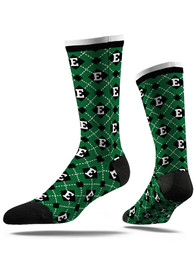 Eastern Michigan Eagles Strideline Repeat Argyle Socks - Green