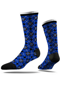 Grand Valley State Lakers Strideline Repeat Argyle Socks - Blue
