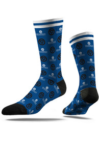 Grand Valley State Lakers Strideline Step and Repeat Dress Socks - Blue