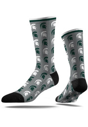 Michigan State Spartans Step and Repeat Mens Dress Socks