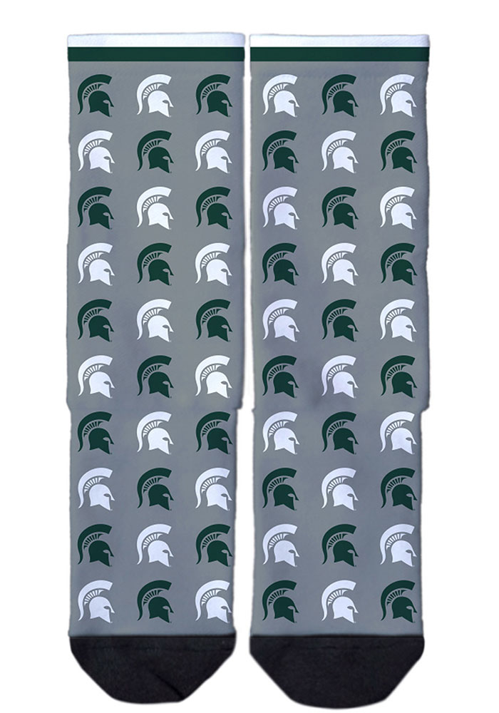 Michigan State Spartans Step and Repeat Mens Dress Socks - Image 2