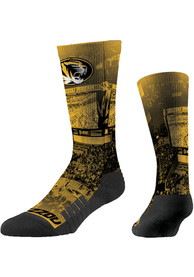 Missouri Tigers Strideline Basketball Court Crew Socks - Black
