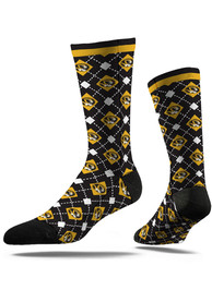 Missouri Tigers Strideline Repeat Argyle Socks - Black