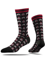 Ohio State Buckeyes Strideline Step and Repeat Dress Socks - Red