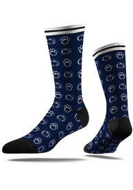 Penn State Nittany Lions Strideline Step and Repeat Dress Socks - Navy Blue