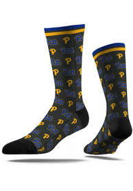 Pitt Panthers Strideline Step and Repeat Dress Socks - Blue