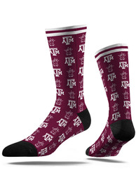 Texas A&M Aggies Strideline Step and Repeat Dress Socks - Maroon