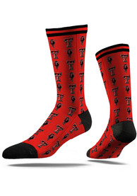 Texas Tech Red Raiders Strideline Step and Repeat Dress Socks - Red