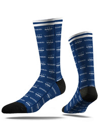 Washburn Ichabods Strideline Step and Repeat Dress Socks - Blue