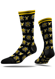 Wichita State Shockers Strideline Step and Repeat Dress Socks - Black