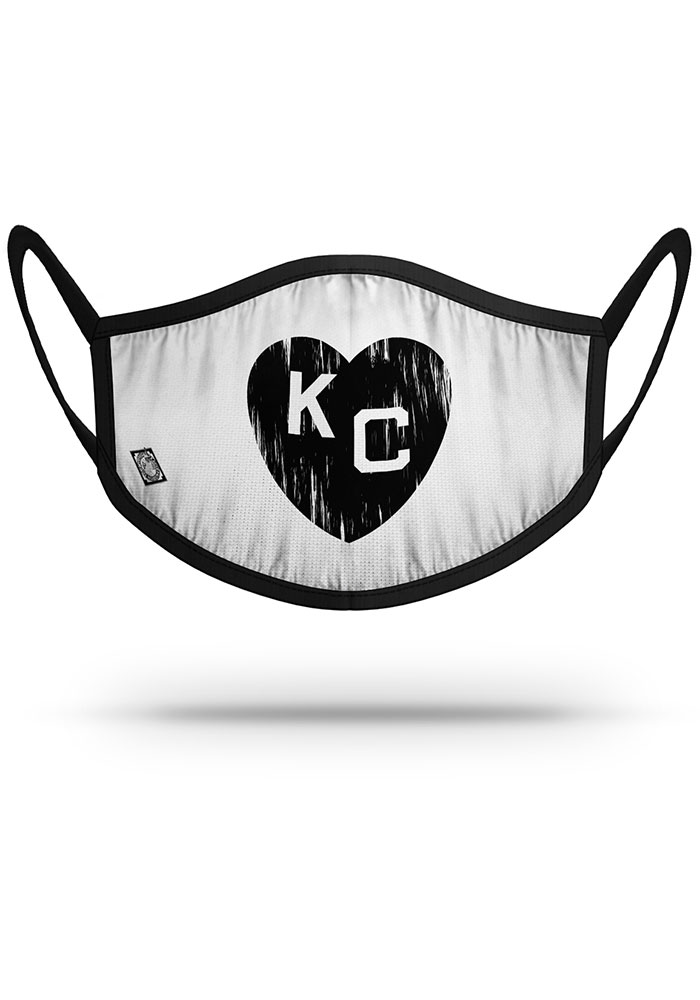 Strideline Kansas City Monarchs White Heart Fan Mask - Image 1