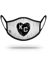 Kansas City Monarchs Strideline White Heart Fan Mask - Black