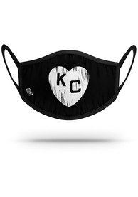 Kansas City Monarchs Strideline Black Heart Fan Mask - White