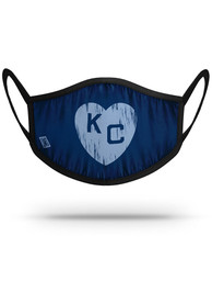 Kansas City Monarchs Strideline Navy Heart Fan Mask - Navy Blue