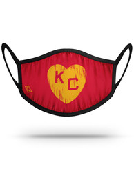 Kansas City Monarchs Strideline Yellow Heart Fan Mask - Red