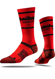 Kansas City Strideline Skyline Crew Socks - Red
