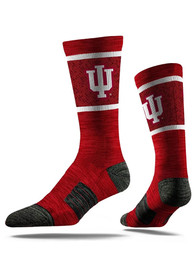 Indiana Hoosiers Strideline Team Logo Crew Socks - Red
