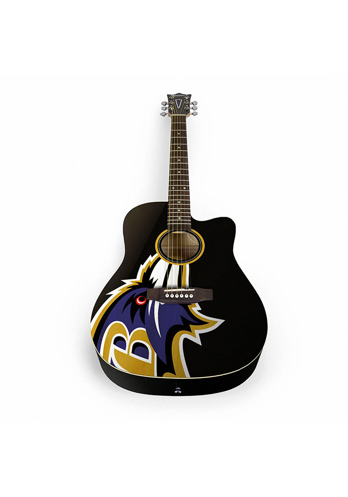 Baltimore Ravens Acoustic Collectible Guitar - Image 1