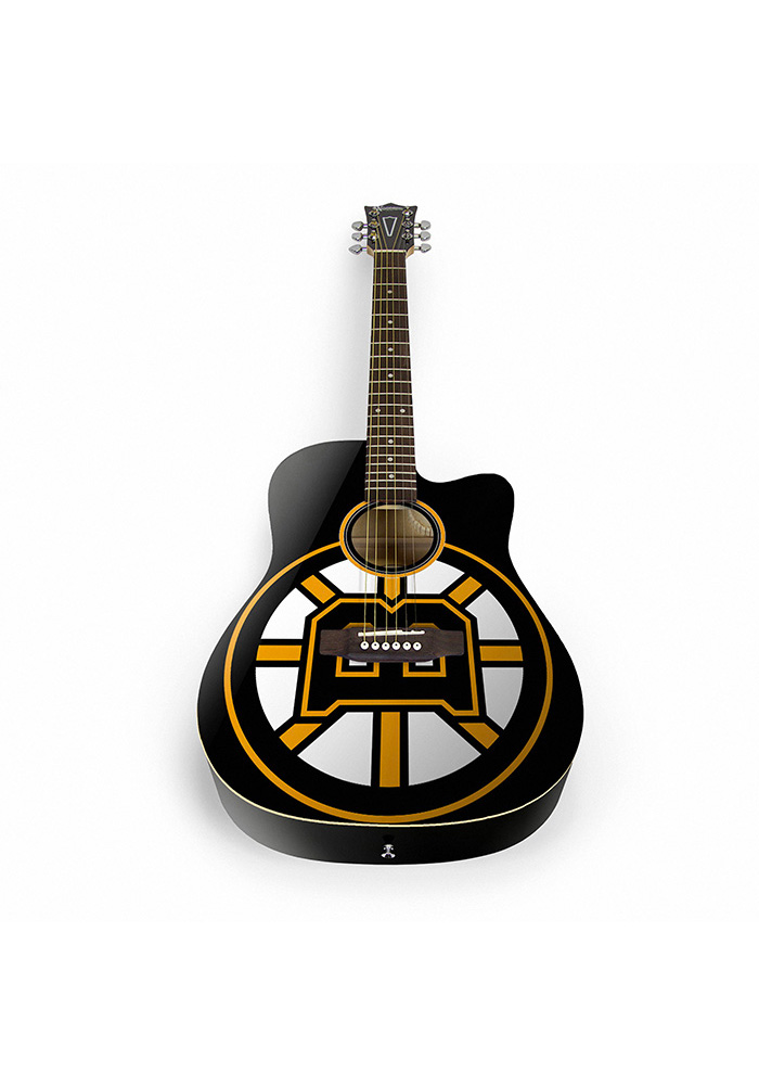 Boston Bruins Acoustic Collectible Guitar - Image 1