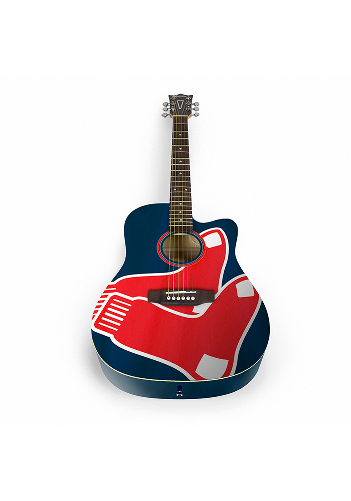 Boston Red Sox Acoustic Collectible Guitar - Image 1