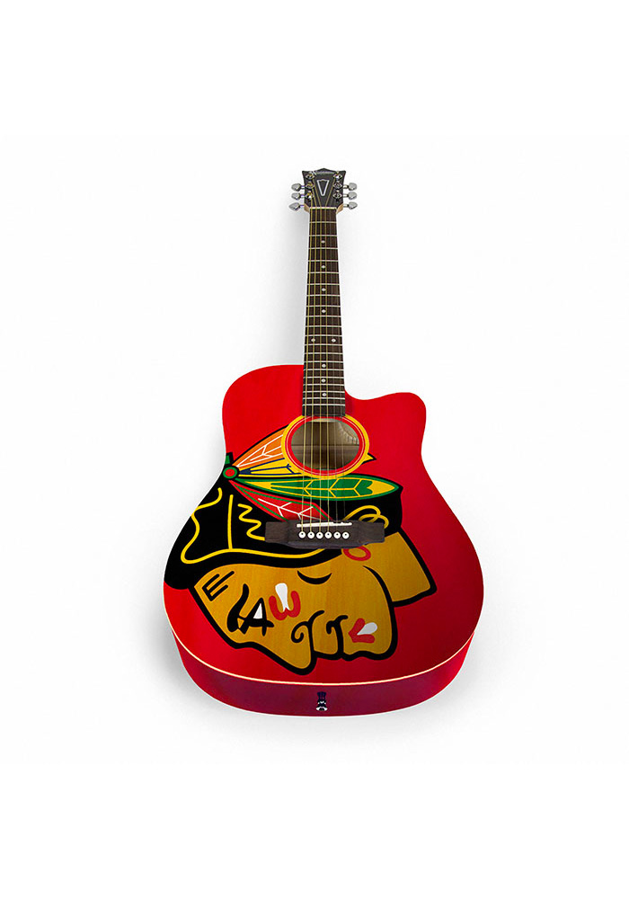 Chicago Blackhawks Acoustic Collectible Guitar - Image 1