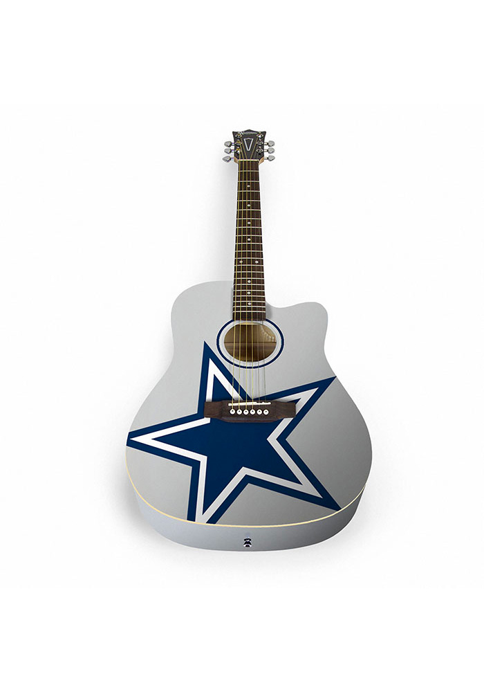 Dallas Cowboys Acoustic Collectible Guitar - Image 1