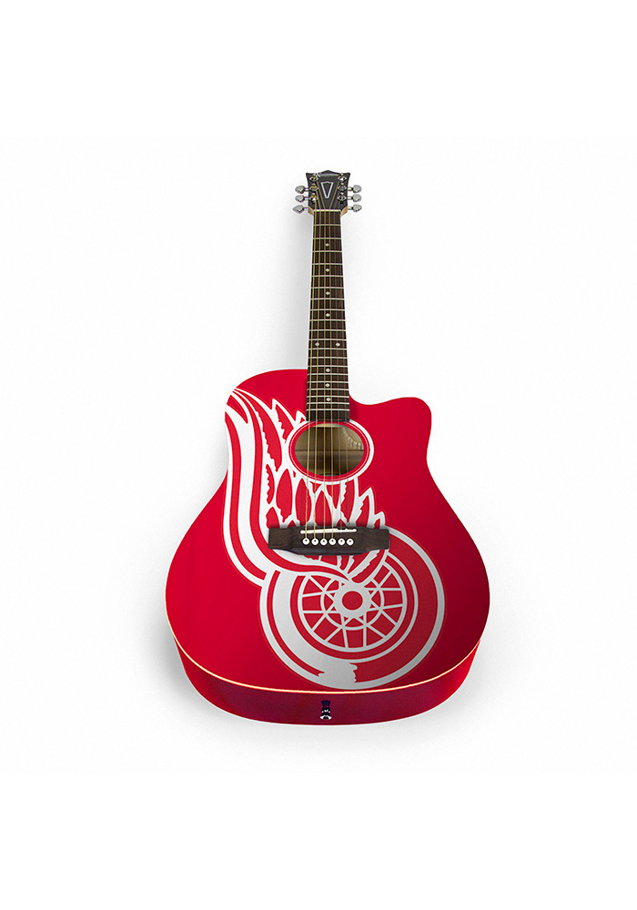 Detroit Red Wings Acoustic Collectible Guitar - Image 1