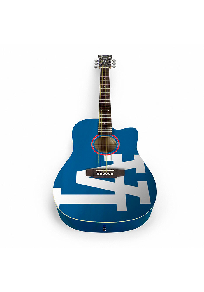 Los Angeles Dodgers Acoustic Collectible Guitar - Image 1