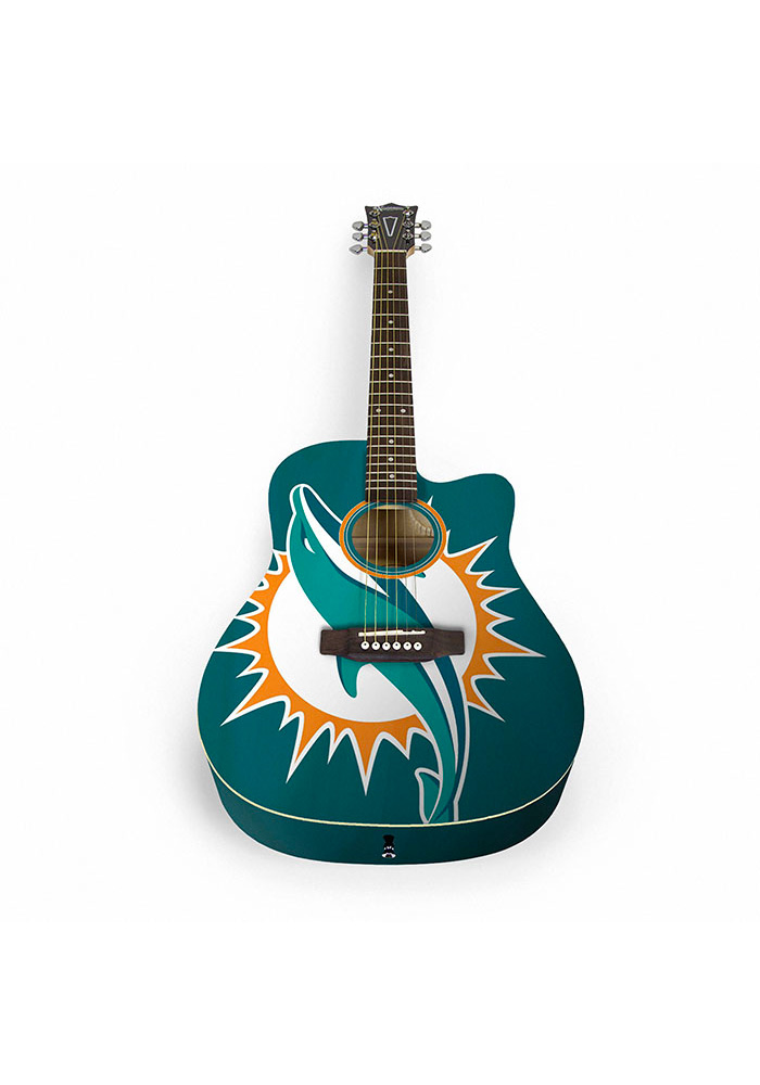 Miami Dolphins Acoustic Collectible Guitar - Image 1