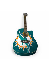 Miami Dolphins Acoustic Collectible Guitar