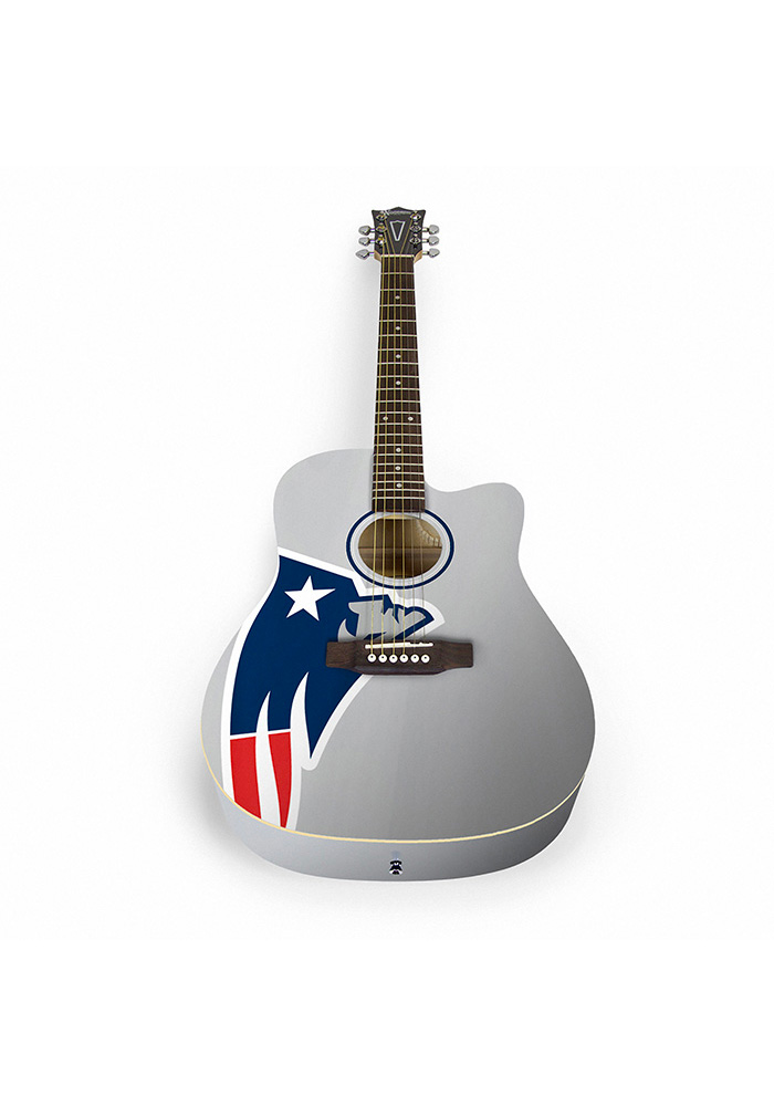 New England Patriots Acoustic Collectible Guitar - Image 1