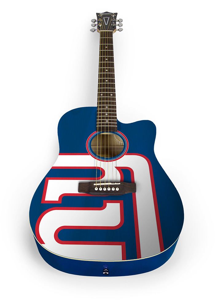 New York Giants Acoustic Collectible Guitar - Image 1