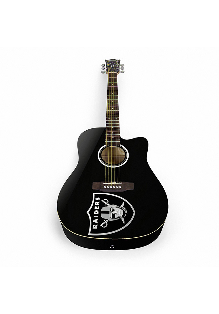 Oakland Raiders Acoustic Collectible Guitar - Image 1