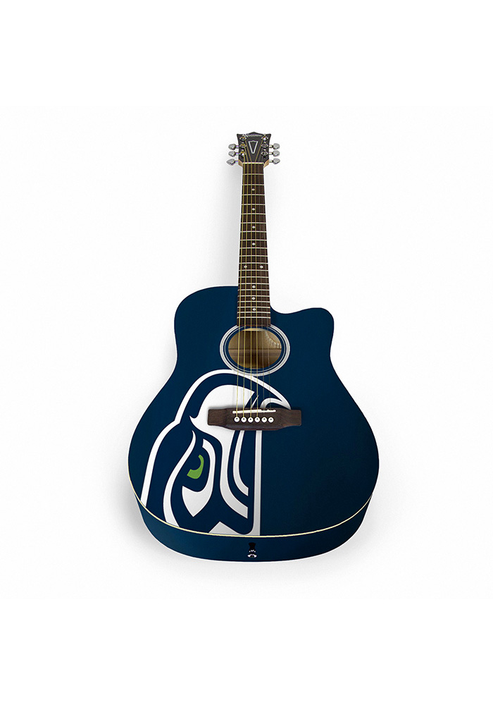 Seattle Seahawks Acoustic Collectible Guitar - Image 1