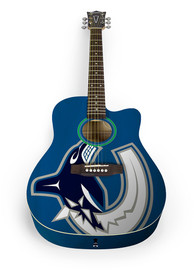 Vancouver Canucks Acoustic Collectible Guitar