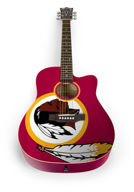 Washington Redskins Acoustic Collectible Guitar