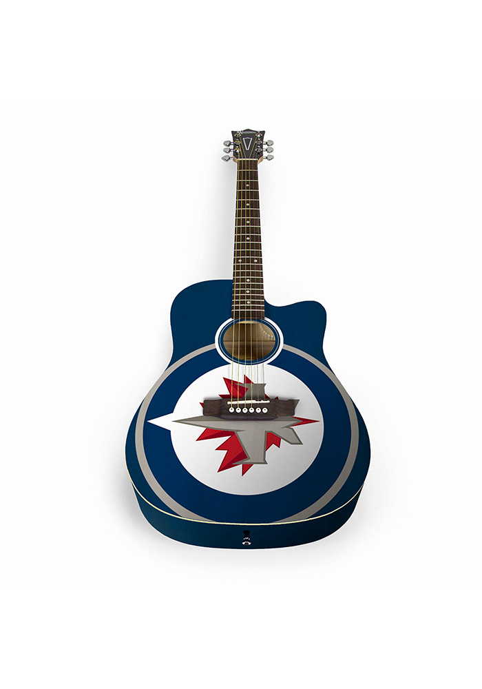 Winnipeg Jets Acoustic Collectible Guitar - Image 1