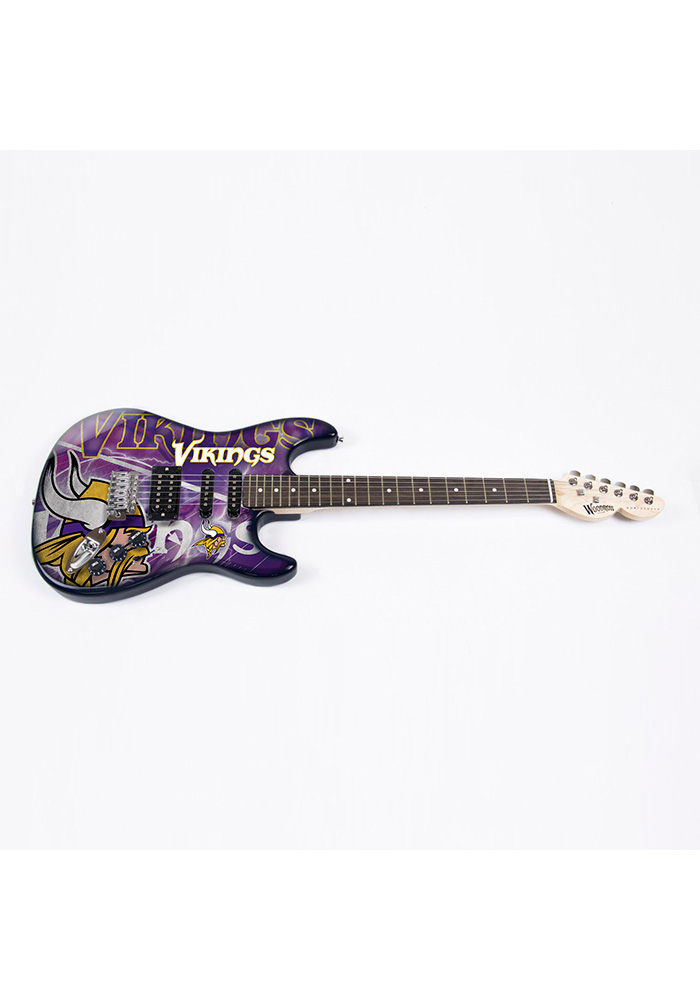 Minnesota Vikings Northender Collectible Guitar - Image 1