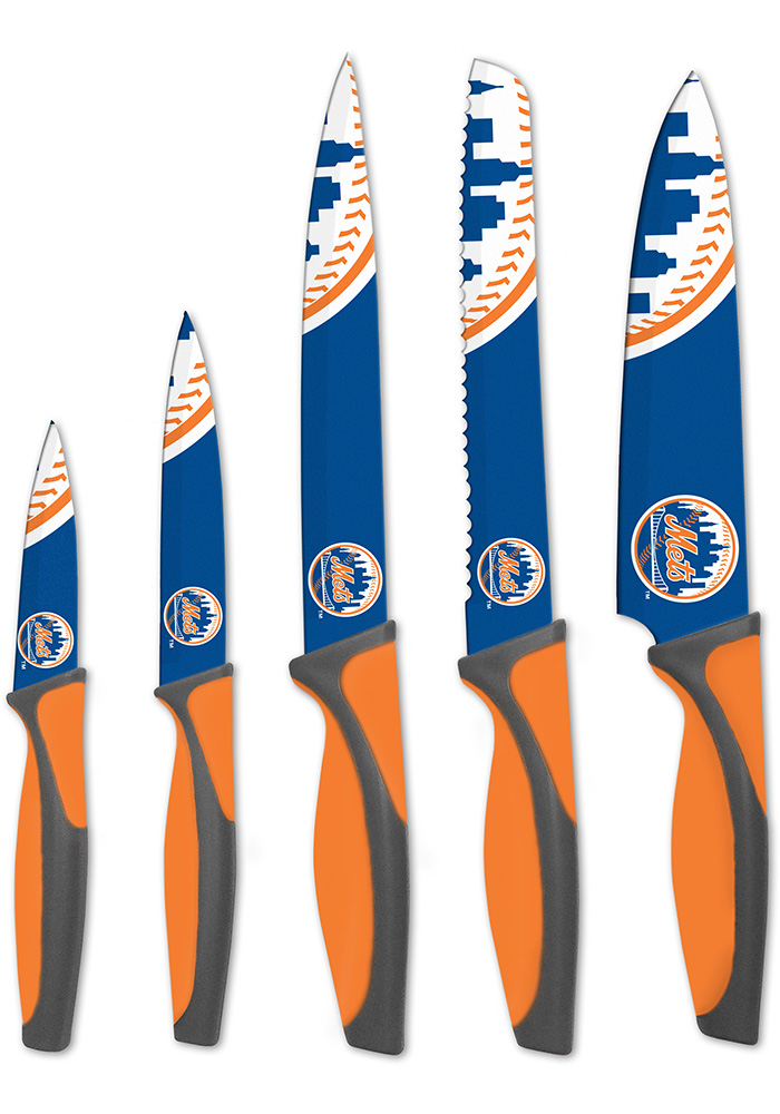 New York Mets Blue 5-Piece Kitchen Knives Set - Image 1