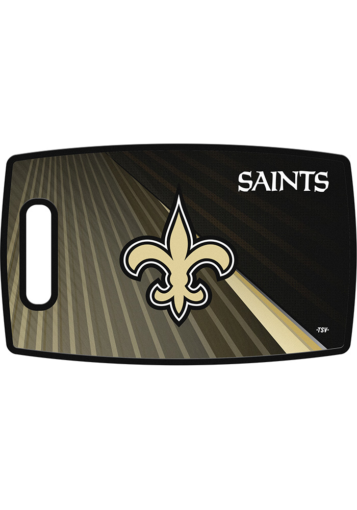 New Orleans Saints 14.5x9 Plastic Cutting Board - Image 1