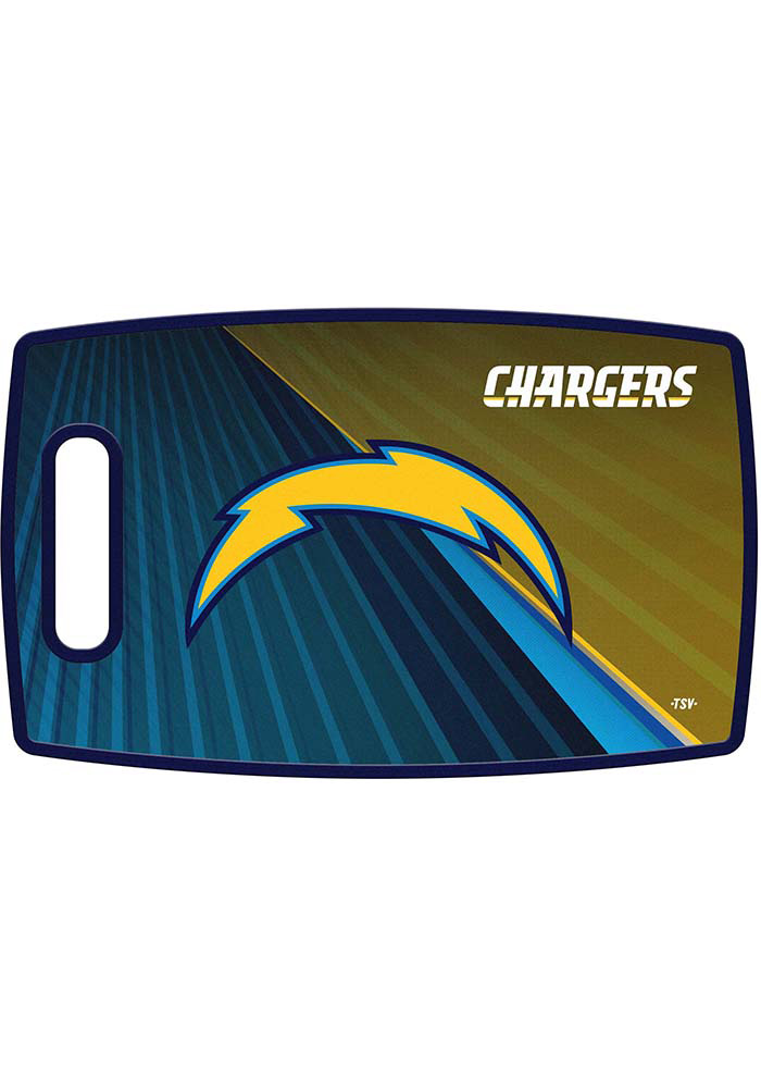 Los Angeles Chargers 14.5x9 Plastic Cutting Board - Image 1