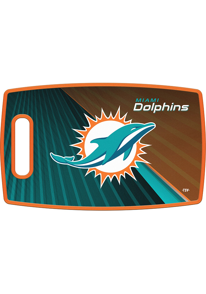 Miami Dolphins 14.5x9 Plastic Cutting Board - Image 1