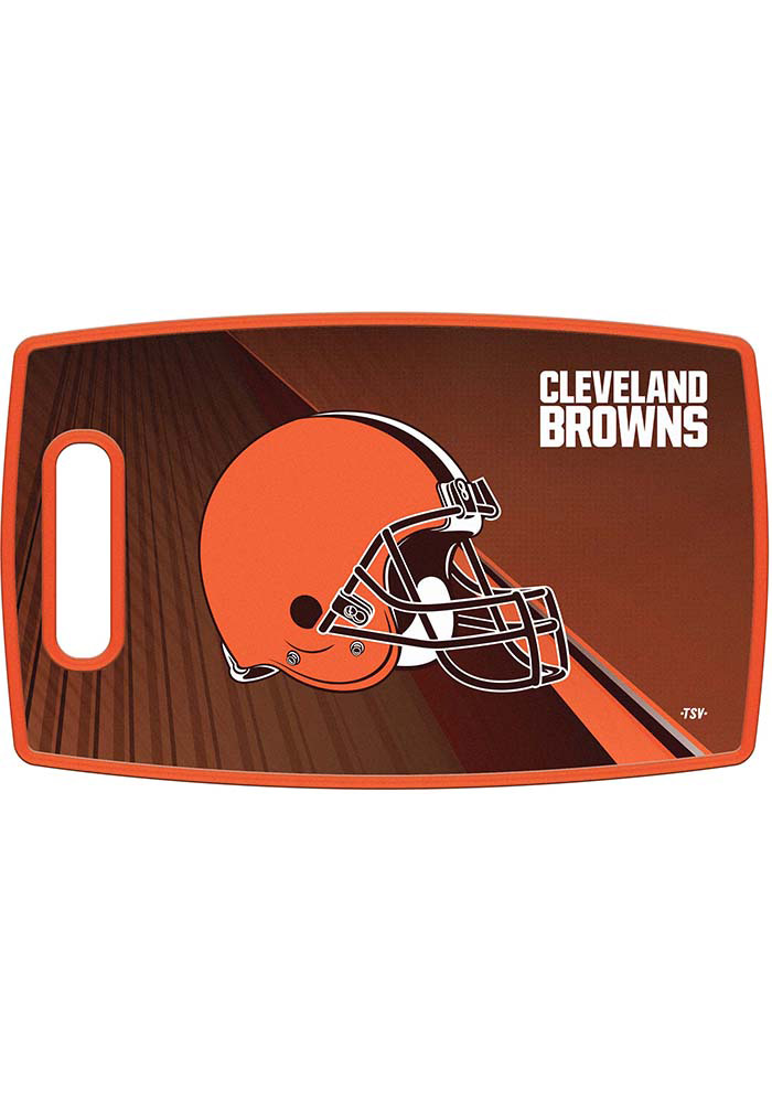 Cleveland Browns 14.5x9 Plastic Cutting Board - Image 1