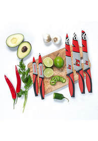 Tampa Bay Buccaneers Red 5-Piece Kitchen Knives Set
