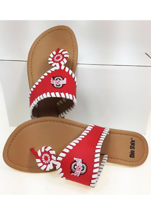 Ohio State Buckeyes High End Womens Flip Flops