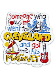 Cleveland Someone Loves Me Magnet