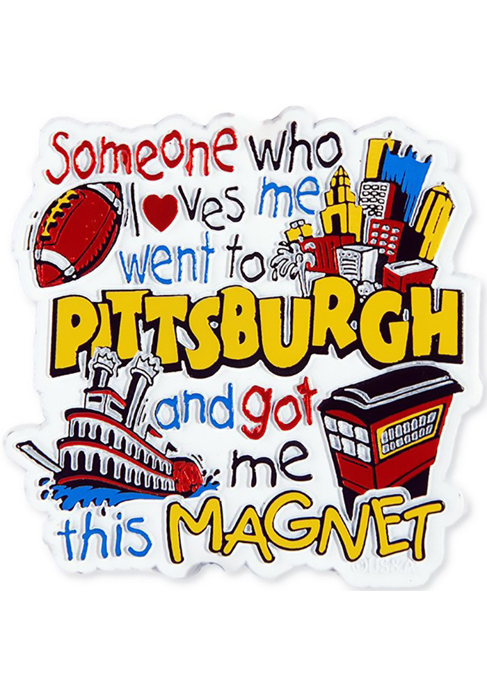 Pittsburgh Someone Loves Me Magnet - Image 1