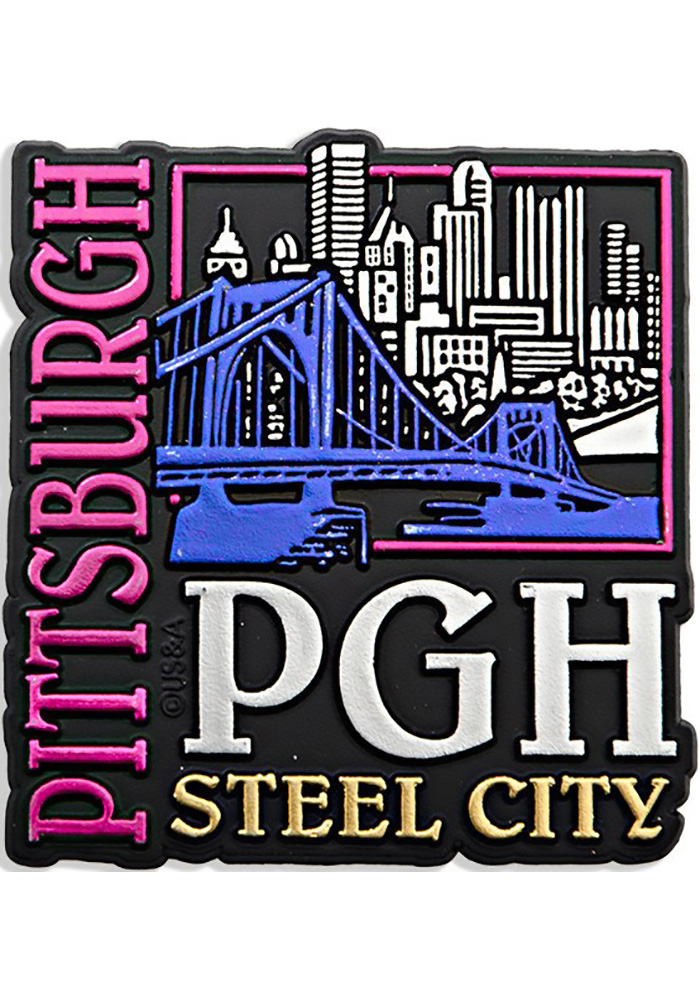 Pittsburgh Steel City Magnet - Image 1