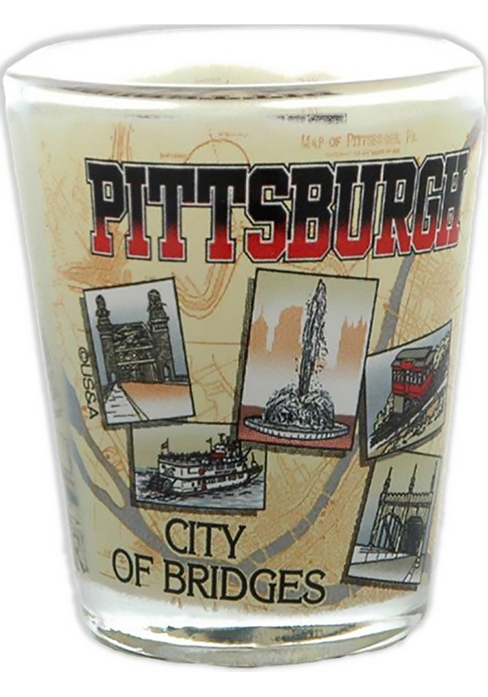 Pittsburgh Bridges Shot Glass - Image 1