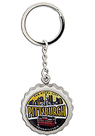 Pittsburgh Bottle Cap Opener Keychain